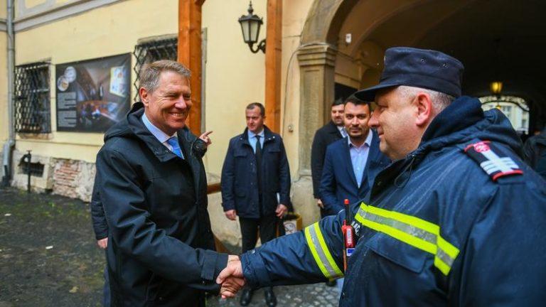 Iohannis, în inspecție la Sibiu cu două zile înaintea Summit-ului liderilor europeni: Orașul arată foarte bine
